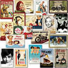 2 *METAL* POSTCARDS New Collectable Retro Advert Poster Photo Plaque Tin Gift