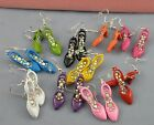 Dangling Shoe Earrings / Pierced Earrings / for Women Drop Dangle Colors