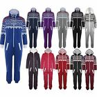 Mens Womens Ladies Unisex Aztec Print Zip Up Onesie All In One Piece Jumpsuit