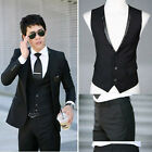 2014 Luxury  mens slim fit one Button Suits Dress Coat Blazer Suit Vest Pant S03