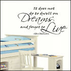 LARGE HARRY POTTER QUOTE DWELL DREAMS FORGET LIVE WALL STICKER ART TRANSFER