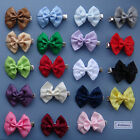 2 x Double Satin Bow Hair clips for Girls - you choose both colours!