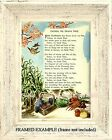 Childrens Prayer Poem Family FATHER WE THANK THEE Illustrated Vintage ART PRINT