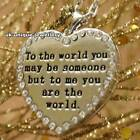 Worded Love Heart Necklace Locket Bracelet Romantic Valentines Day Gift For Her