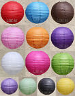 "BULK-12x10""/25cm Colourful Paper Lanterns Home Party Chinese Wedding Decoration"