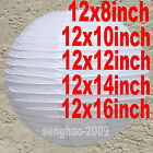 """60Mix(8""""10""""12""""14""""16"""") White Paper Lanterns Home Chinese Party Wedding Decoration"""