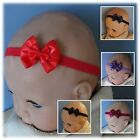 Double Satin Bow Baby Headband- Dark colours- Different sizes/ colours available