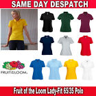 Fruit of the Loom Lady-Fit 65/35 Polo All Sizes