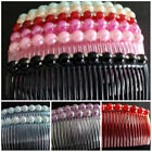 Bridesmaid Wedding Prom Party Hair Comb Faux Pearl Diamante  UK