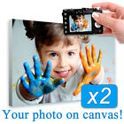 HUGE Your Photo Print on Canvas Set of 2 pcs Lot custom printing own picture