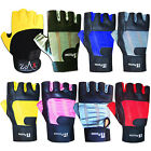 Weight Lifting Gloves Leather Gym Exercise Body Building Gloves Ladies, Mens
