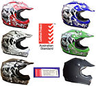 KIDS YOUTH MOTOCROSS HELMET CHILD TRAIL BIKE DIRT BIKE PEEWEE ATV QUAD BMX S M L