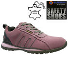 LADIES SAFETY BOOTS LEATHER STEEL TOE CAPS ANKLE TRAINERS SHOES WOMENS SIZE 3-8