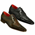Jeffery West Muse Escobar J560 Iguana High Shine Lace Up Shoes in Black or Brown