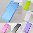 Clear 0.5mm Ultra Thin Matte Back Hard Plastic Case Cover Skin For iPhone 5 5S