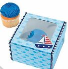 1st Birthday Sailor Cupcake Boxes AS LOW AS 53¢ea  TREAT Favor APPLES #709713