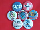 "Old school skateboad  set of 7 Pinback button,badges size 1"",1.25"" or 2.25"" pins"