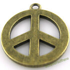 D04 Wholesale New Bronze Antique Strong Peace Symbol Charms Dangle Pendants 25mm
