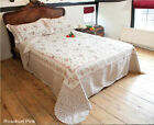 PATCHWORK QUILTED BEDSPREAD BEDROOM THROW DOUBLE BED NEW ROSEBUD PINK