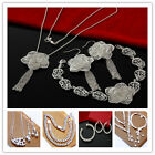 Wholesale Specials latest nice elegant Fashion Jewelry silver Set+S925 gift box