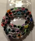 Evil Eye 3 bracelet set Hematite &  Evil Eye beads stretch bracelet