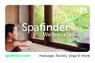 SpaFinder Wellness Gift Card $25/ $50/ $100 US Mail Delivery