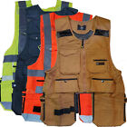 Men Work Vest Pockets Utility Vest tool pockets vest Pro 100% Cotton Black Brown