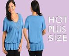 Sex Womens Plus Size Top Scoop Neck Waist Embellished Top Size 1XL-3XL Reg36.99