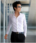 ST131 New Mens Luxury Casual Slim Fit Stylish Dress Shirts 5 Size 2 Colors