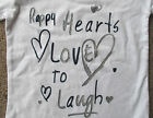 NEXT Girls Long Sleeve White Top / T-Shirt  - happy hearts love to laugh Bargain