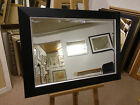 """New 3 1/2"""" Modern Shaped Black & Silver wall and Overmantle mirrors - - VARIOUS"""
