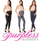 Stretchy Maternity Leggings Over Bump Full Length Size 8 10 12 14 16 18 1050 FS