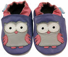 SOFT LEATHER BABY GIRLS SHOES / PRAM SHOES 0-6,6-12,12-18,18-24 Mth & 2-3 Yr OWL