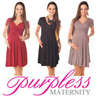 Maternity Short Sleeve Summer Dress Pregnancy Size 8 10 12 14 16 18 8417