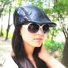 New Latest Fashion Women 100% Real Leather Hats / Berets / Newsboy Hat