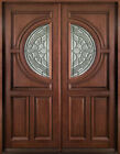 "Solid Mahogany 2Doors+ 2 SLs Pre-hung&Finished7107, 85""W"