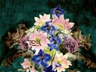 Old World Oil Painting Style (Photo) Floral Bouquet Matted Picture Print A406