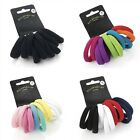 10 Coloured Regular Hair Donuts Ponios Bobbles Elastics Bands Hair Accessories