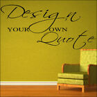 EXTRA LARGE CREATE YOUR OWN WALL QUOTE YOUR CUSTOM DESIGN STICKER STENCIL DECAL