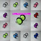 Glitter Fake Ear Plugs Cheater Plug Earrings available in 8 colours & 5,8,10mm