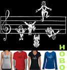 Funny T-Shirts Music Sheet Notes Singlet size top Men's Women's musical new tee