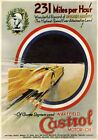 Castrol Motor Oil, Vintage Land Speed Record poster art. Sir Henry Segrave 1929