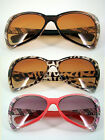 Extra Large Women Butterfly Sunglasses Brown Plastic Frame Gradient 100%UV400