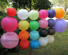 "1pcs 4pcs 8"" 10"" 12"" Round Paper Lanterns Wedding Party Home Decoration"
