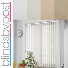Lapwing Design - Made To Measure Complete  Vertical Blinds - Multipack BLACKOUT