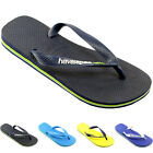 WOMENS HAVAIANAS BRAZIL BRASIL LOGO FLIP FLOP LADIES SANDALS 7 COLOURS SIZES 3-8