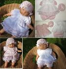 Cute baby girl summer dress knickers hat 4 pc set outfit Reborn NB 0-3-6 M SALE