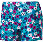 NEW Asics Women's Spandex Volleyball Shorts, Reversible Modern Maze BT1786
