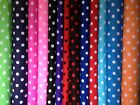 Spotted polka dot polycotton fabric sold by the metre by Fyvie star Fabrics