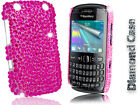 BLING DIAMOND DIAMANTE HOT PINK  CASE COVER FOR BLACKBERRY 9320